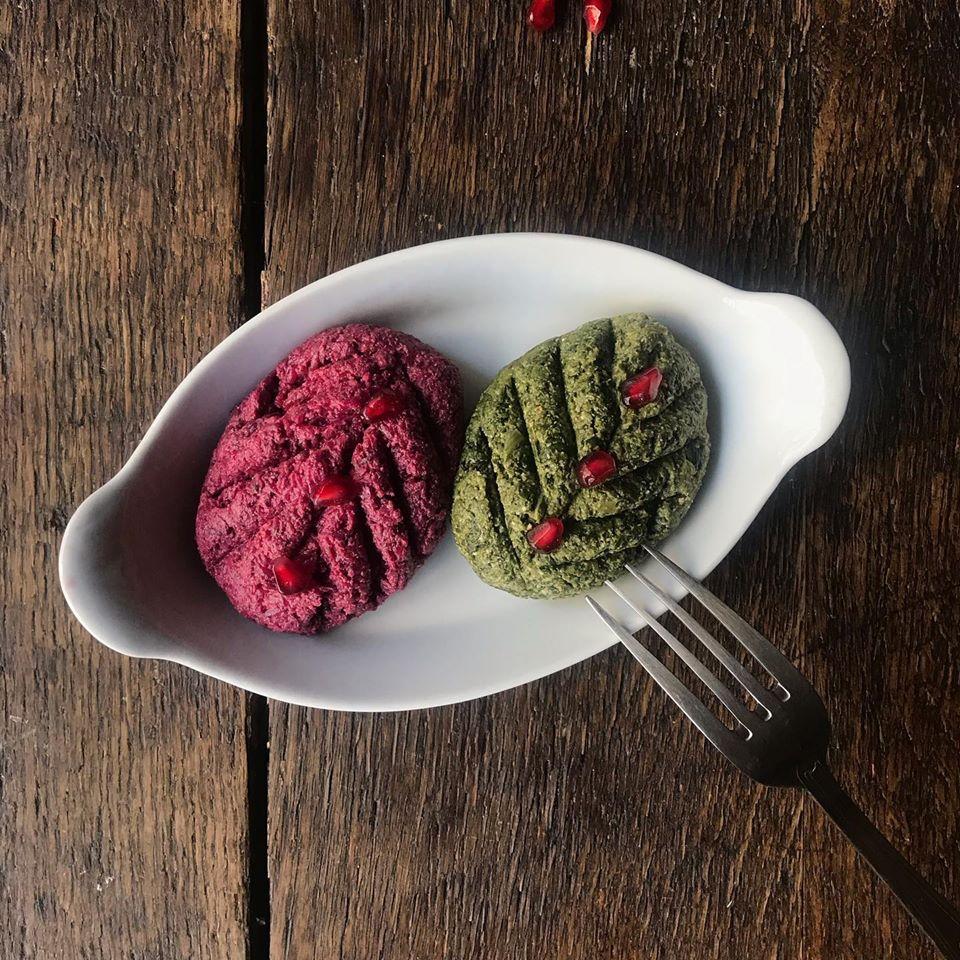 Pkhali - caviars de betterave et epinard aux noix