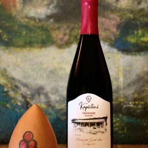 Tavkveri,-vin-rouge-sec-2019-KAPISTONI,-vinification-traditionnelle-dans-les-qvevris,-vin-naturel,-sans-sulfites-ajoutés